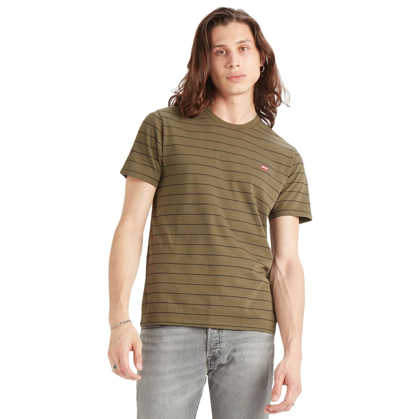 LEVI'S HM Patch Logo Retro Engineered Stripe Tee O