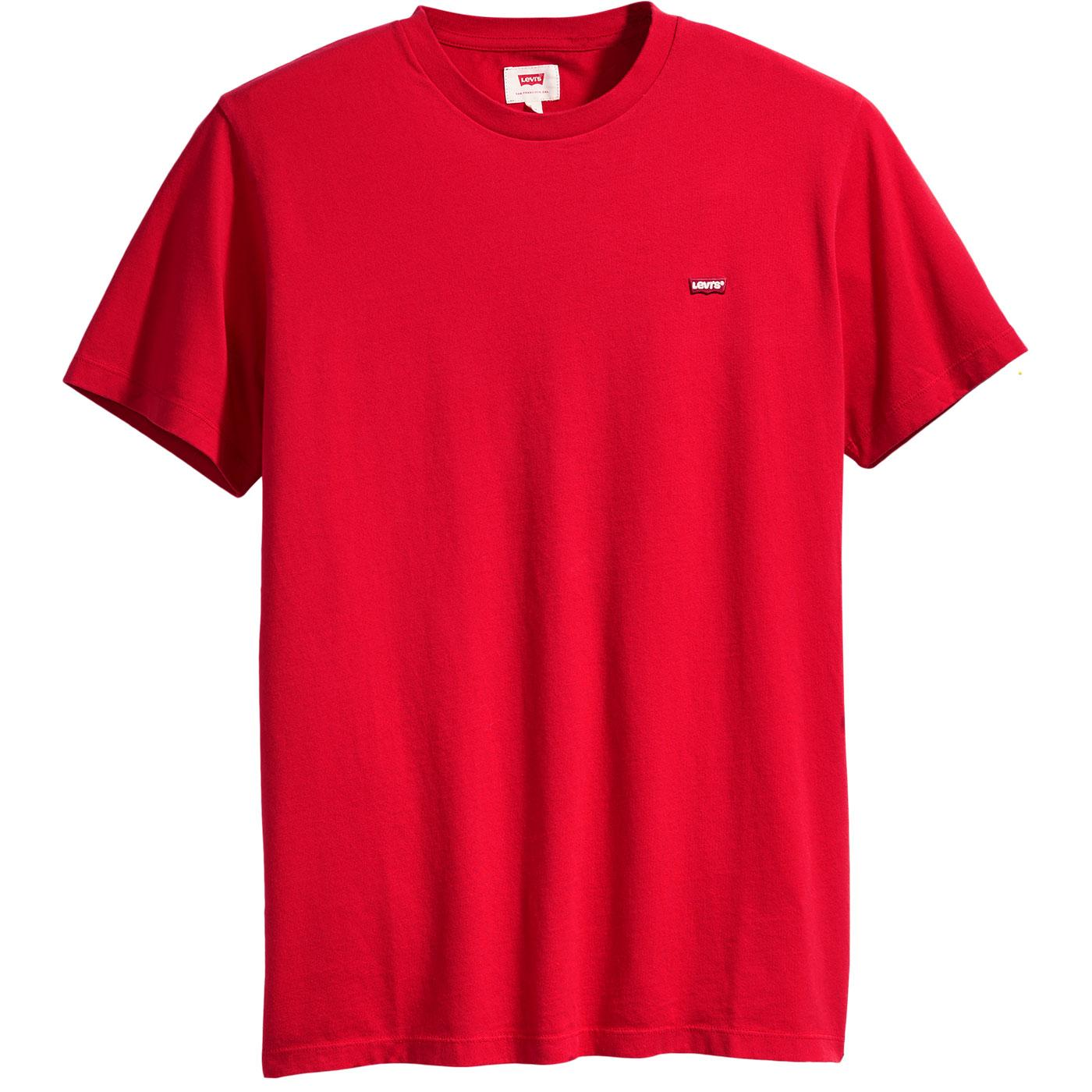 LEVI'S Original HM Small Logo Tee (Brilliant Red)