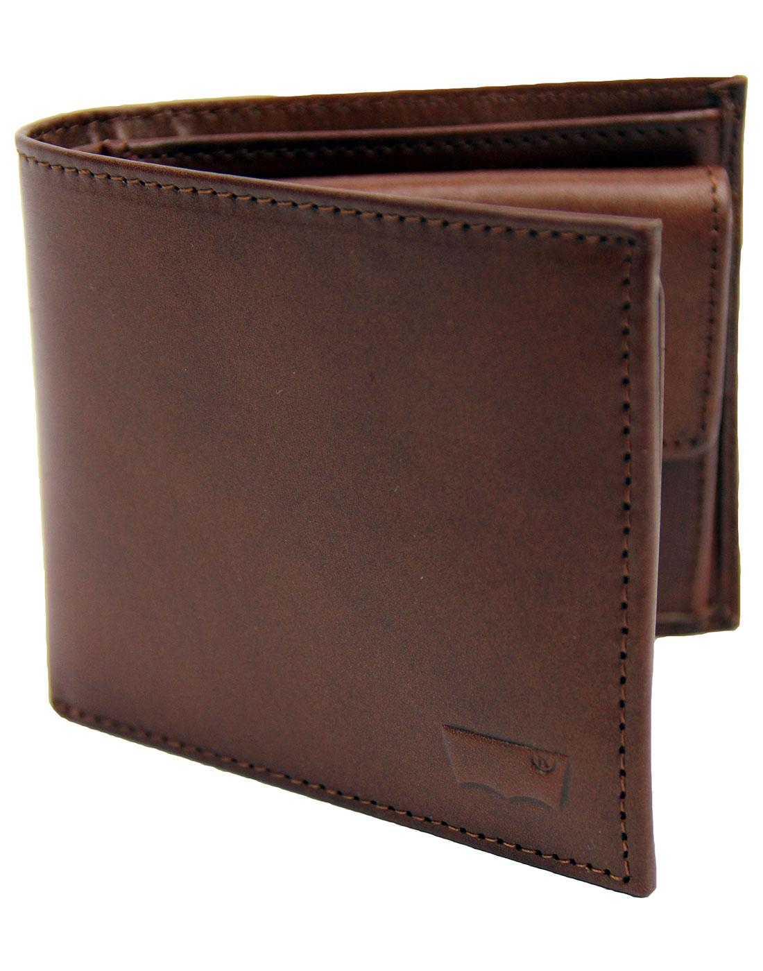 LEVI'S® Indie Leather Inlay Bifold Wallet Brown