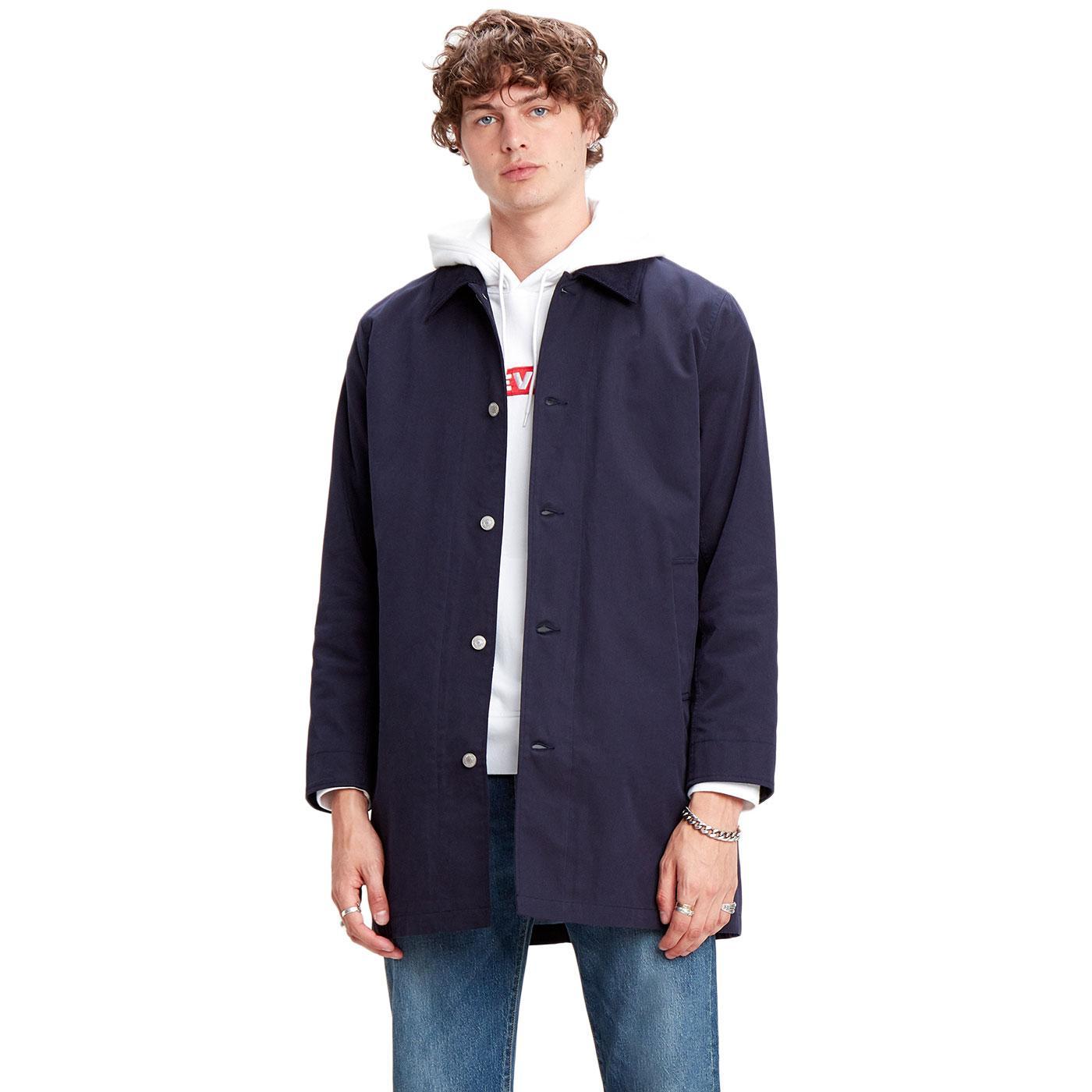 LEVI'S Men's Mod Long Utility Coat NIGHTWATCH BLUE