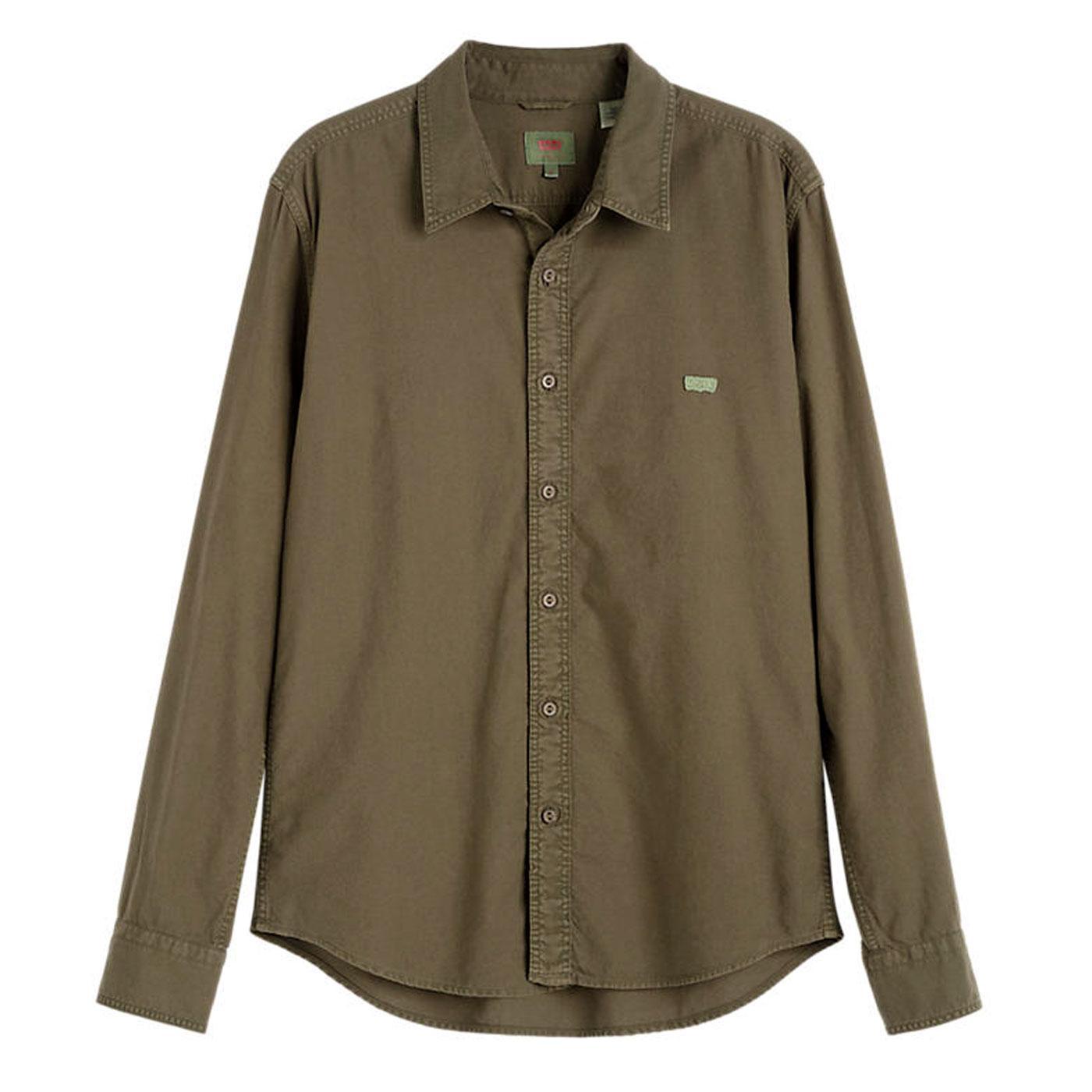 LEVI'S Battery L/S HM Slim Oxford Shirt - Olive
