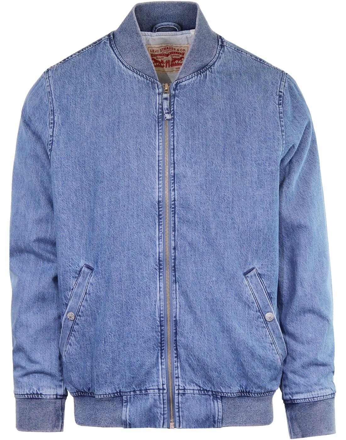 Lyon LEVI'S Men's Retro Mod Denim Bomber Jacket