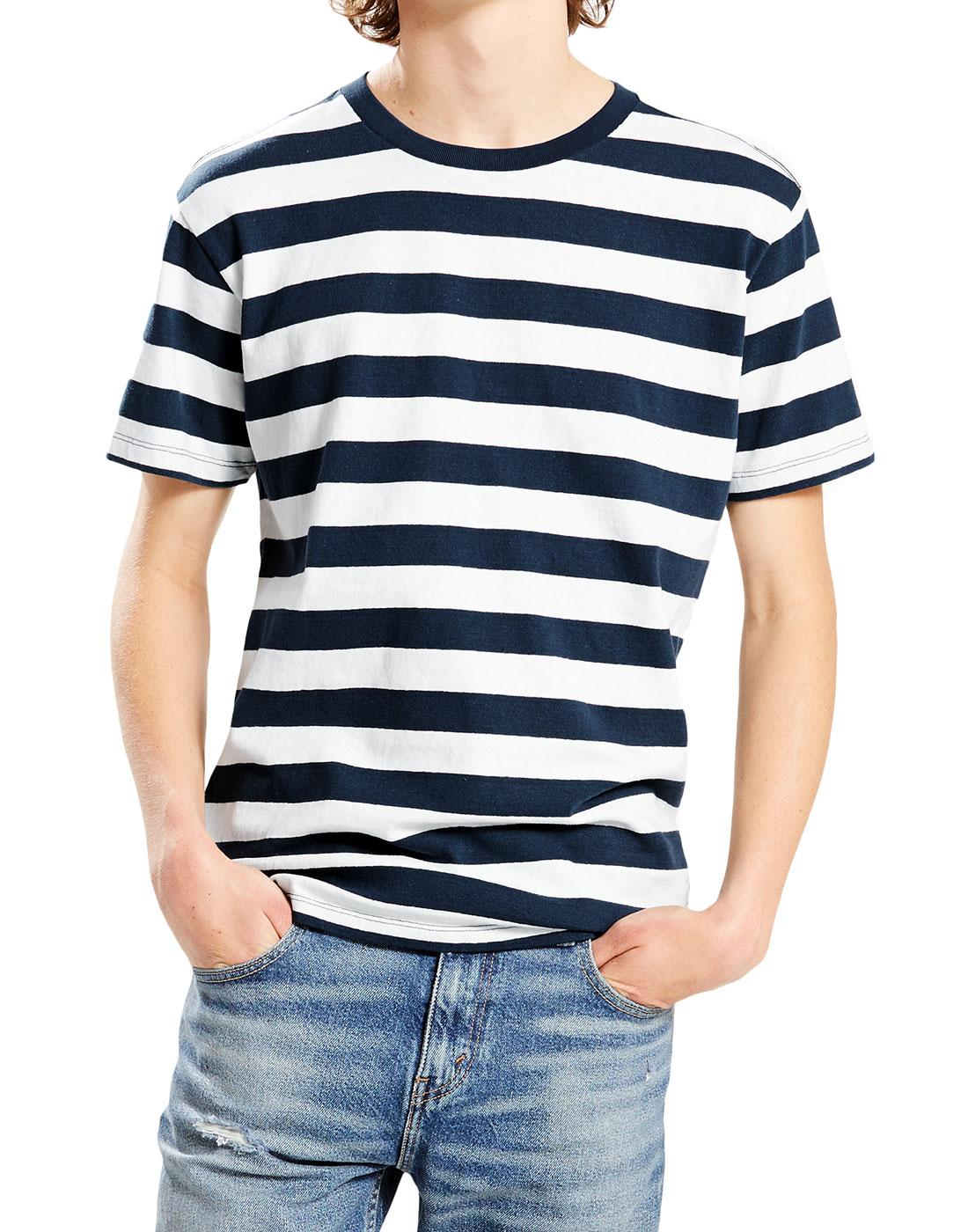 Mighty Tee LEVI'S Retro Mod Bass Stripe T-Shirt M