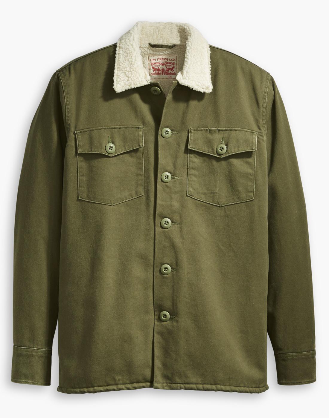 LEVI'S Men's Retro 70s Mod Military Sherpa Jacket