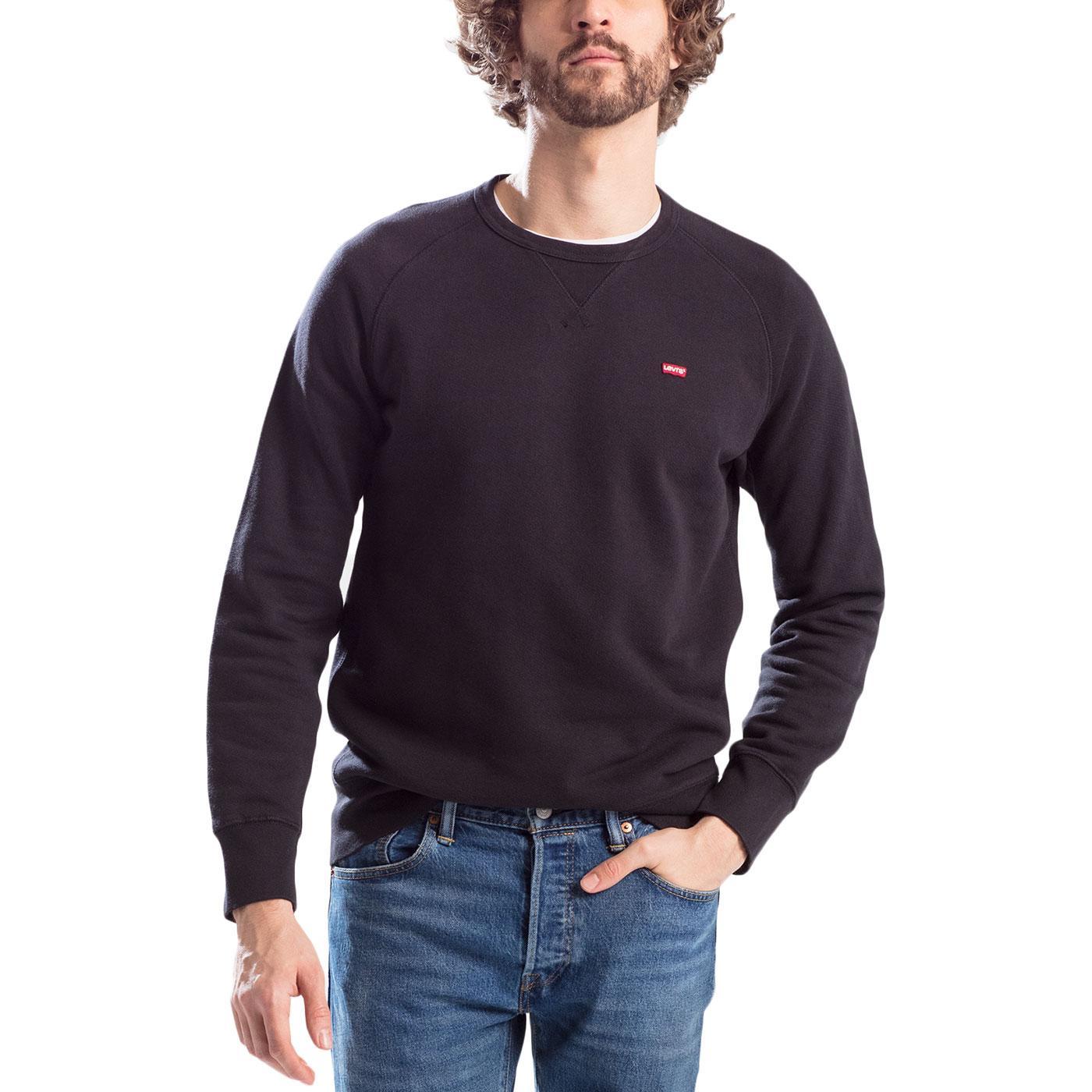 LEVI'S Original Icon Retro Crew Sweatshirt (Black)