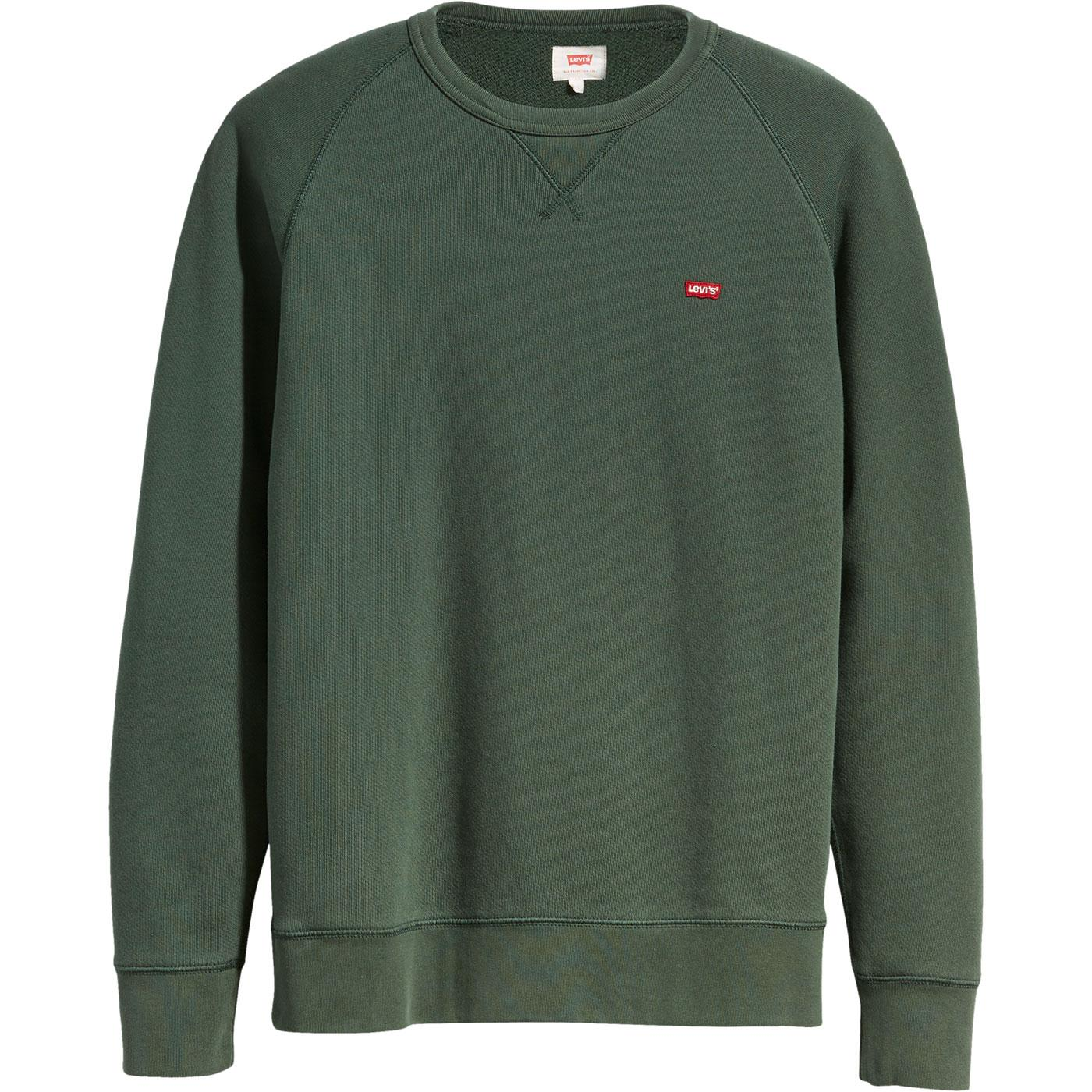 LEVI'S Original Icon Crew Sweatshirt PYTHON GREEN