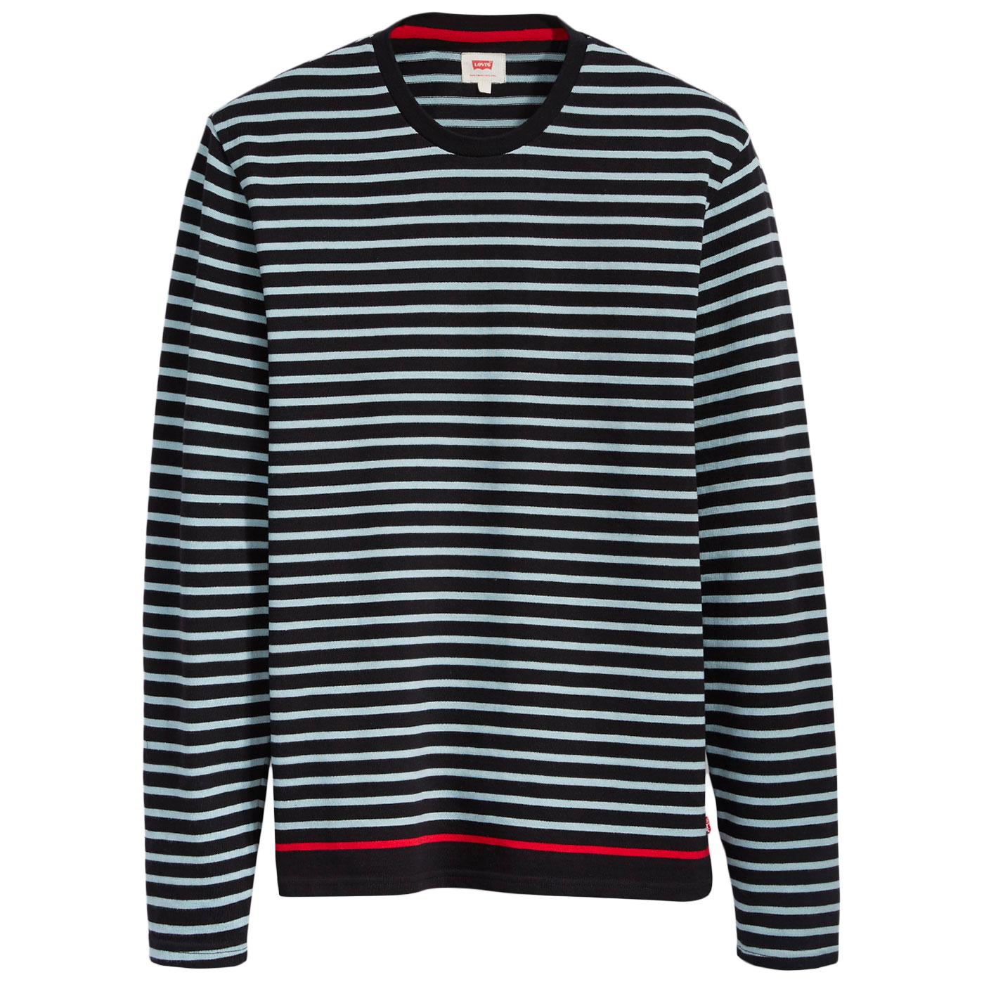 Mission LEVI'S Men's Retro Mod Breton Tee (Black)