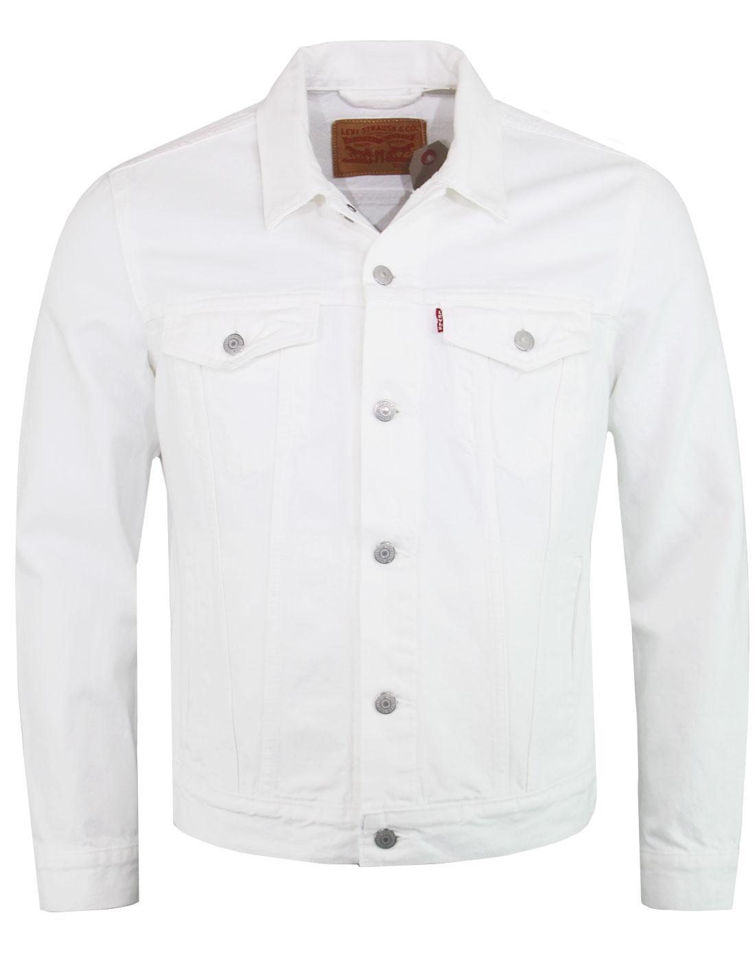 LEVI'S Mod White Denim Trucker Jacket STEEL HOUR