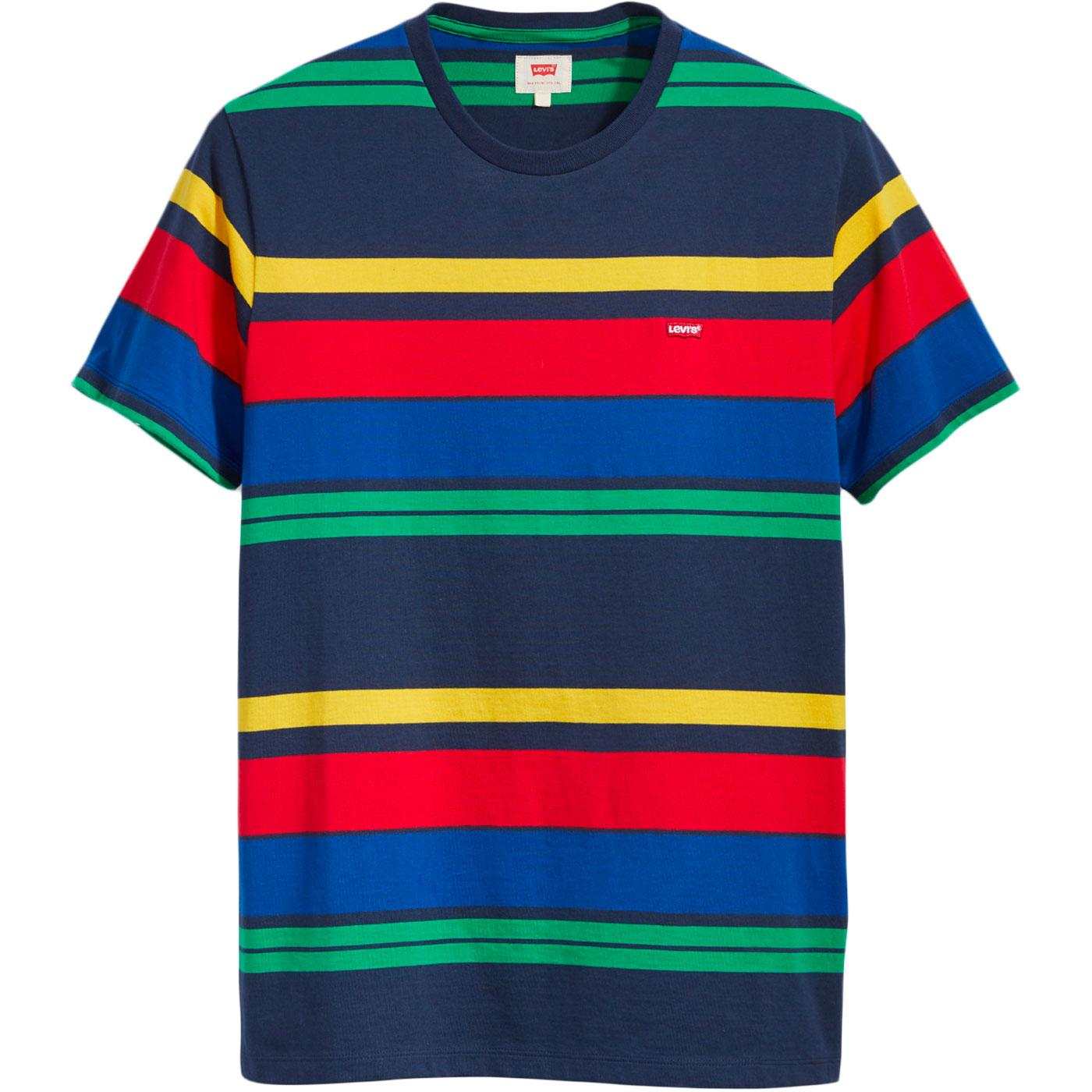 LEVI'S Men's Retro Housemark Multi Stripe T-shirt