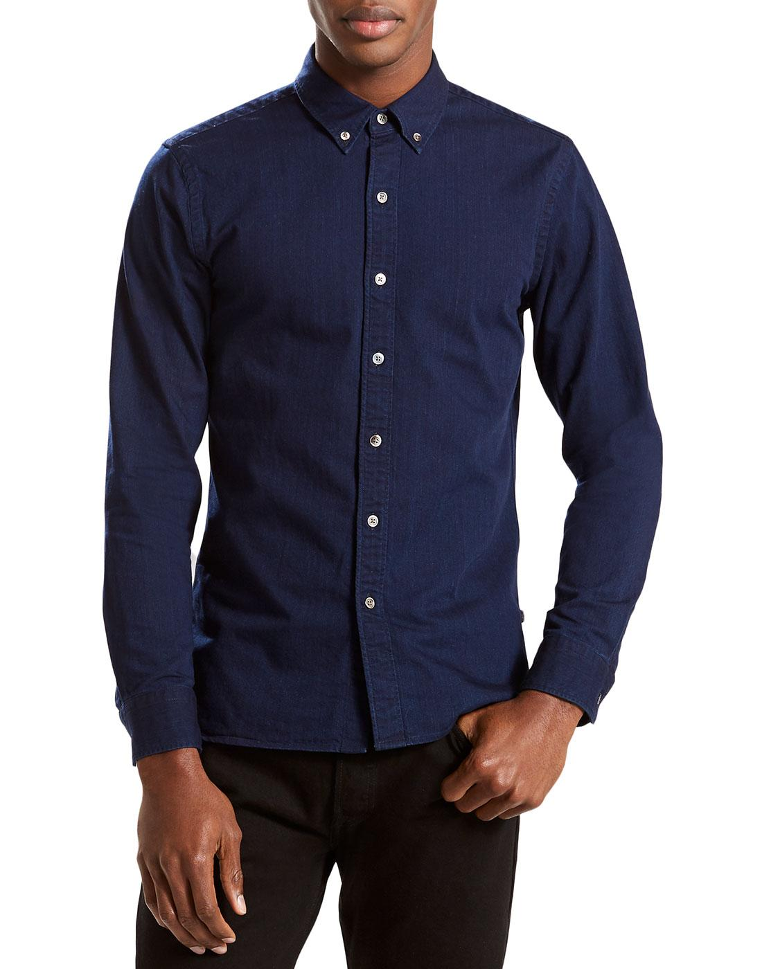 LEVI'S Pacific Mod Button Down Indigo Denim Shirt