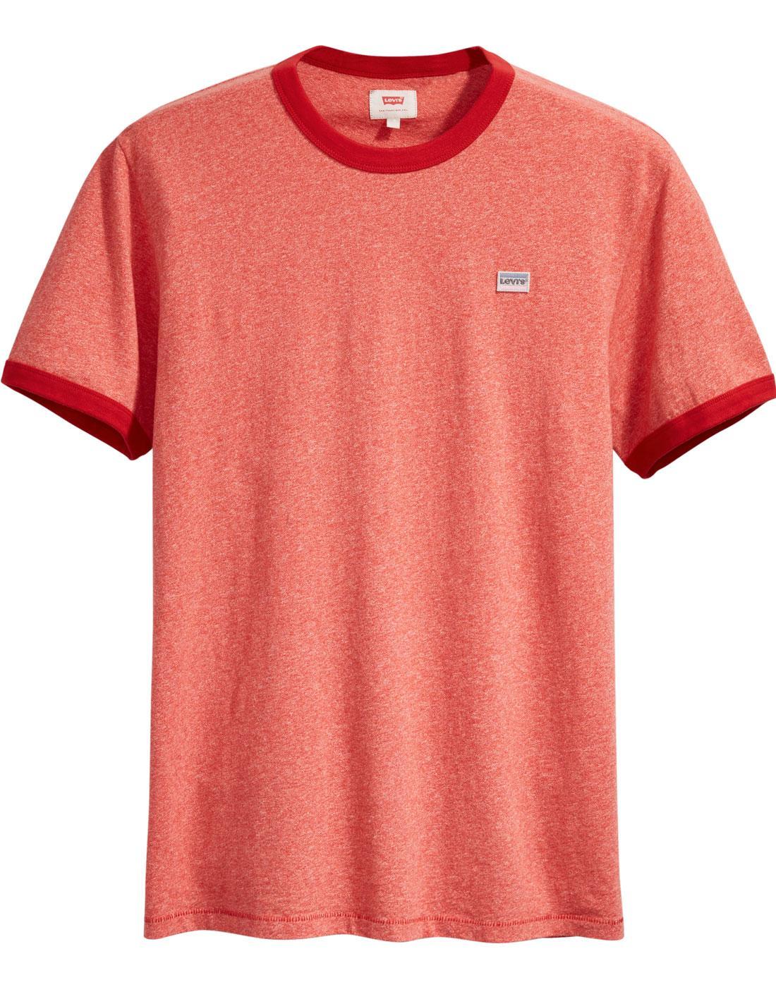 Bernel LEVI'S Retro 70s Ringer T-shirt SUNSET RED