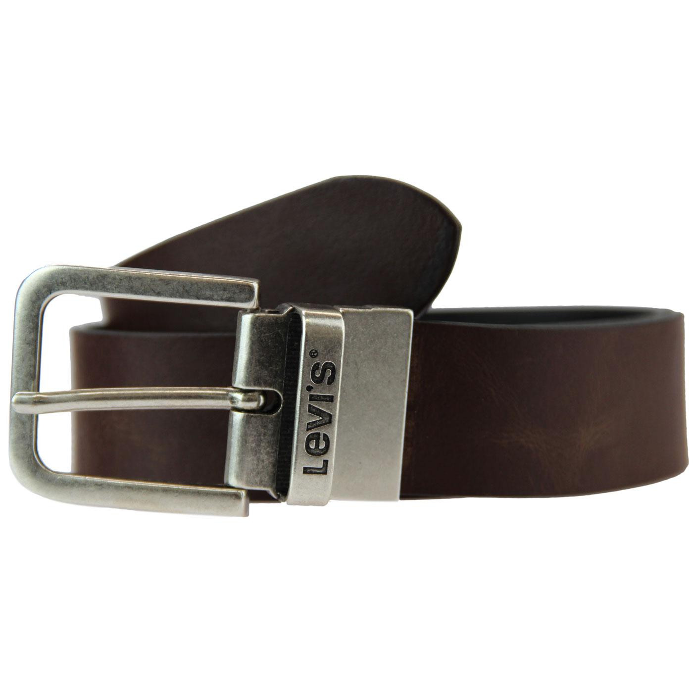 LEVI'S Men's Retro Mod Reversible Leather Belt