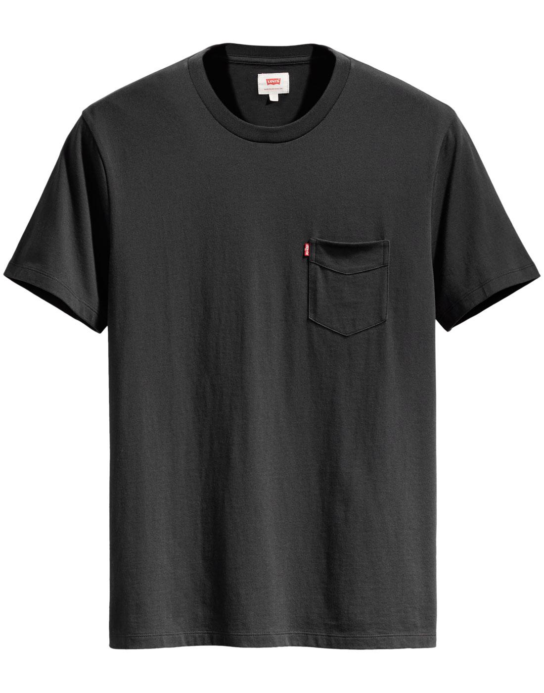 LEVI'S Retro Setin Sunset Pocket T-Shirt (Black)