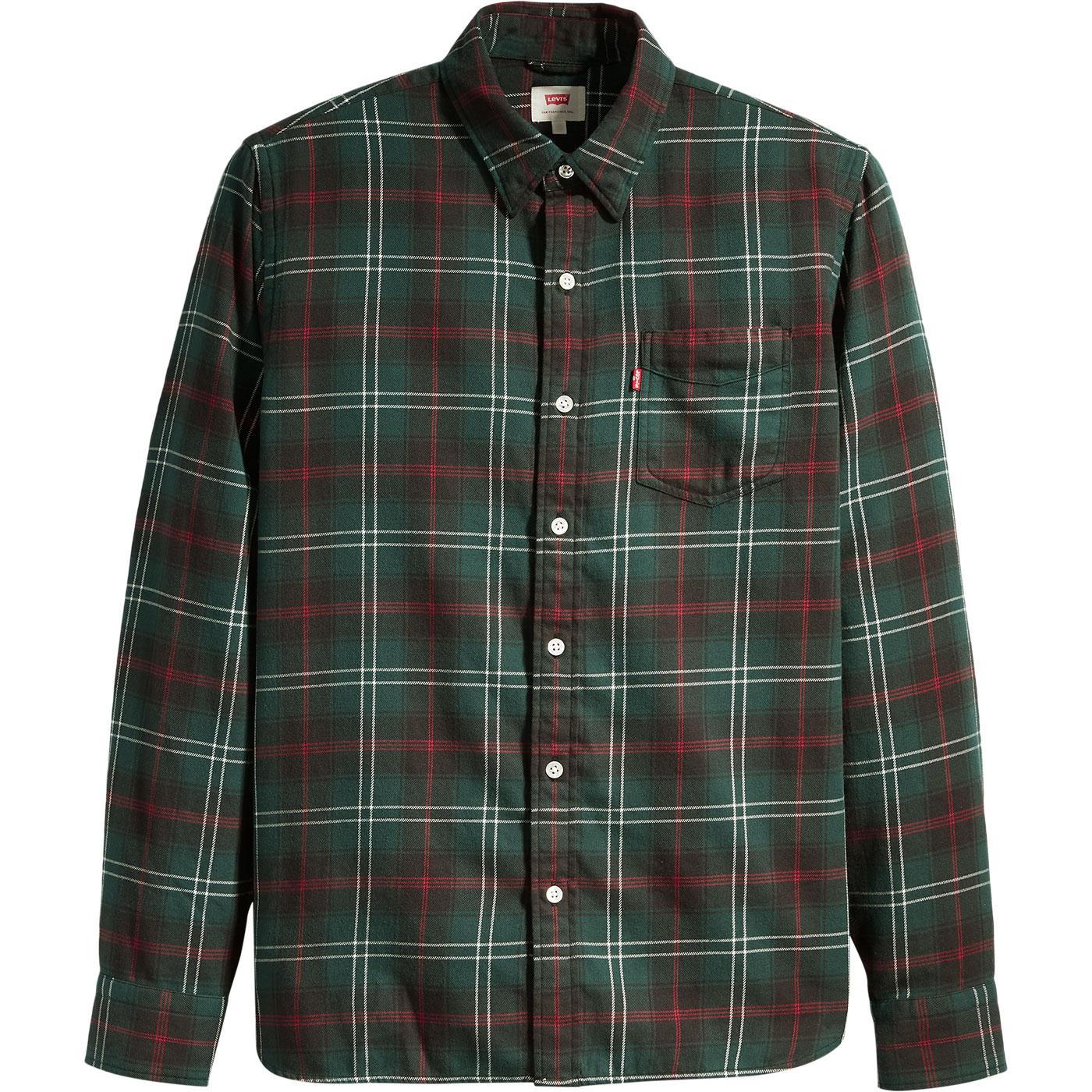 LEVI'S Mod Sunset 1 Pocket Tartan Check Shirt (C)