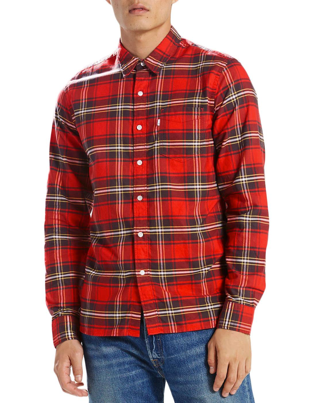 Sunset LEVI'S Retro Mod 1 Pocket Check Shirt (CR)