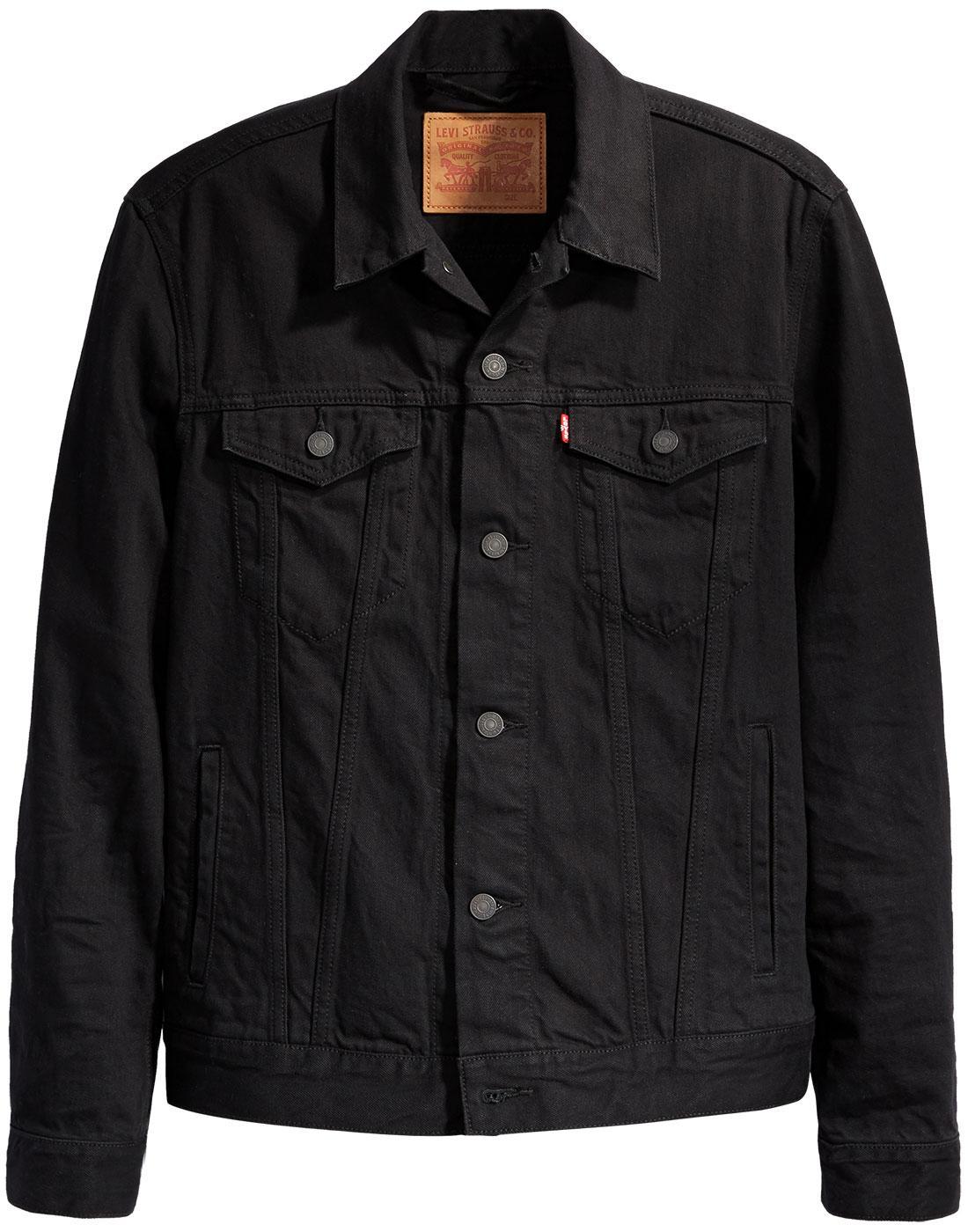 5698dc7e1a4 LEVI S Men s Retro 70s Mod Denim Trucker Jacket in Berkman Black