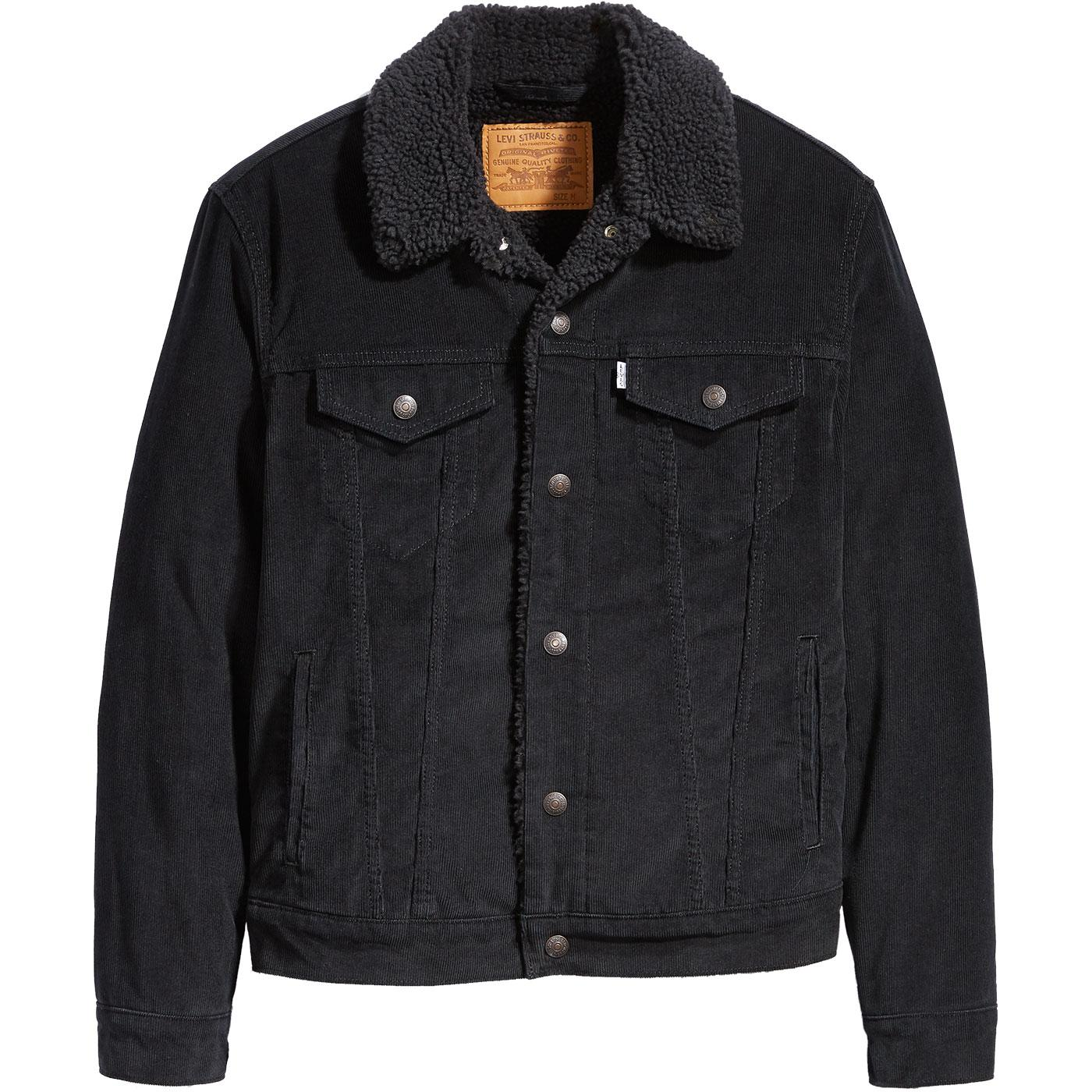 LEVI'S Type 3 Retro Sherpa Cord Trucker Jacket (B)