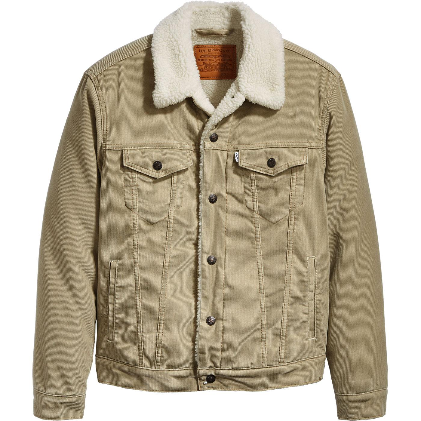 LEVI'S Type 3 Retro Sherpa Cord Trucker Jacket (C)