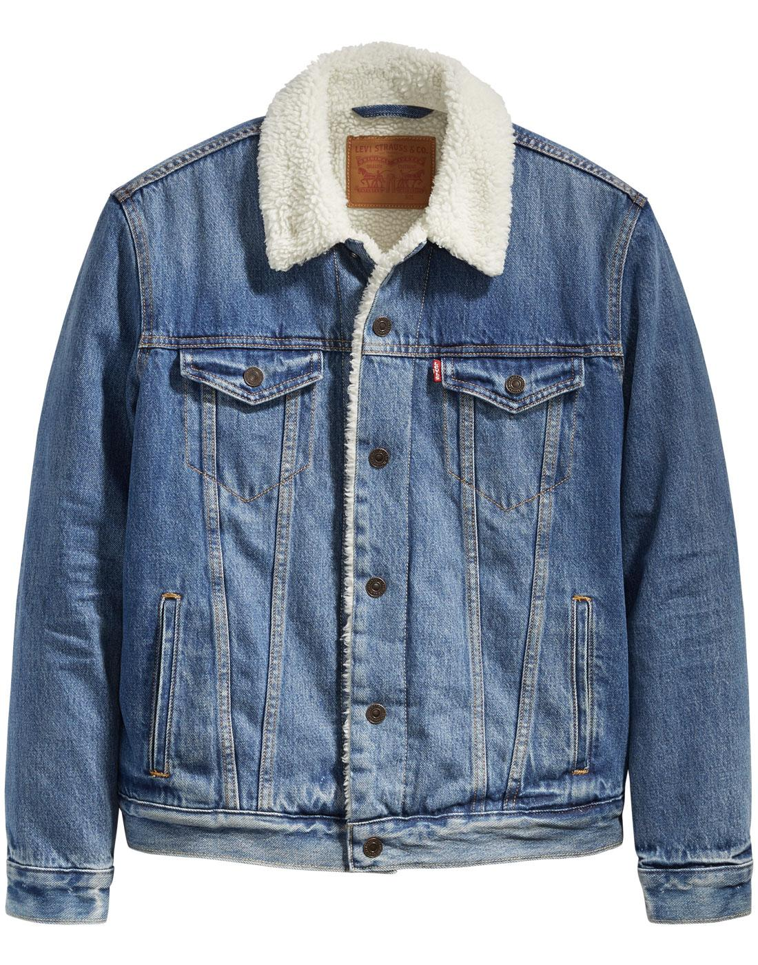 LEVI'S Type 3 Sherpa Mod Denim Trucker Jacket NP