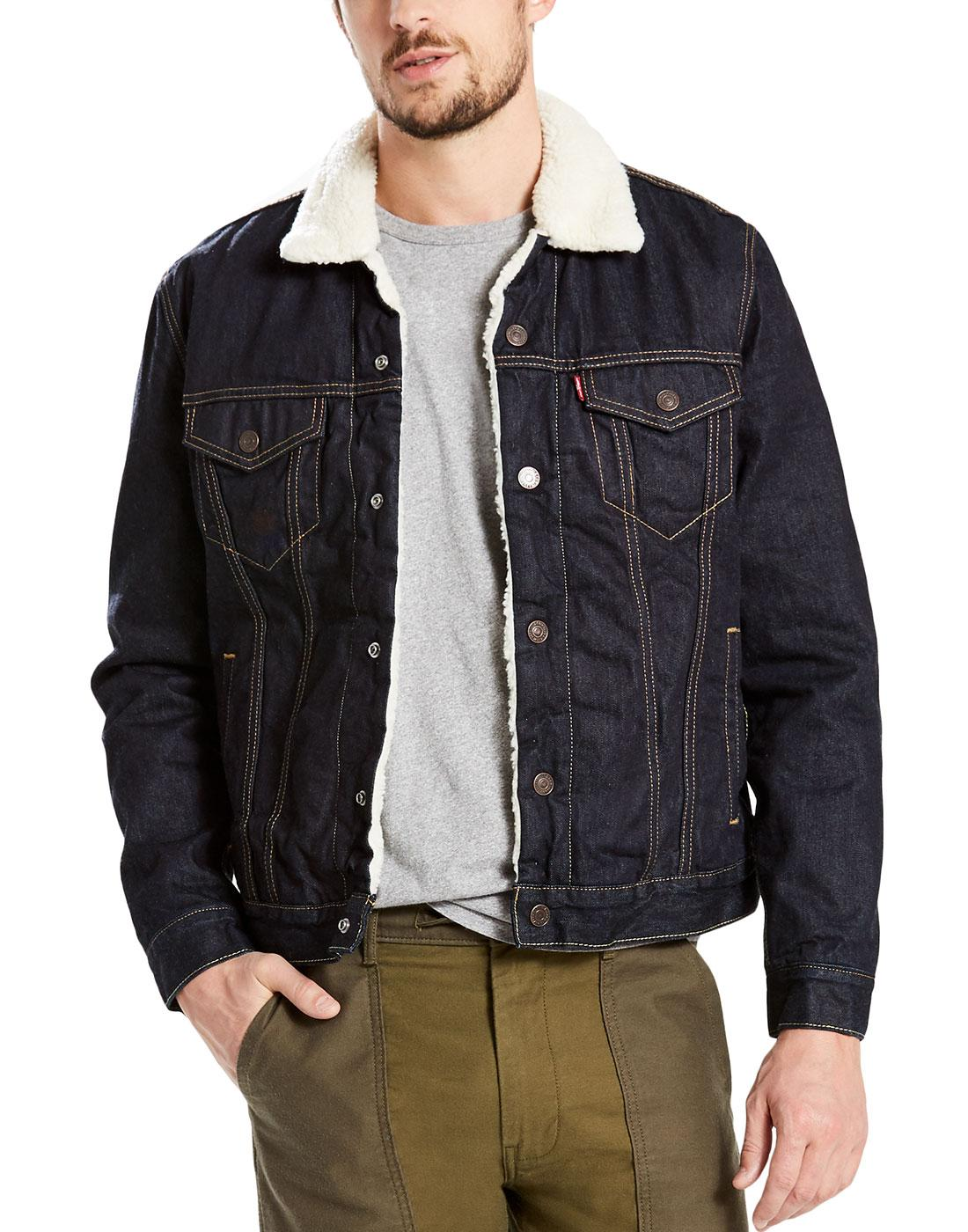 LEVI'S Type 3 Sherpa Mod Denim Trucker Jacket RP