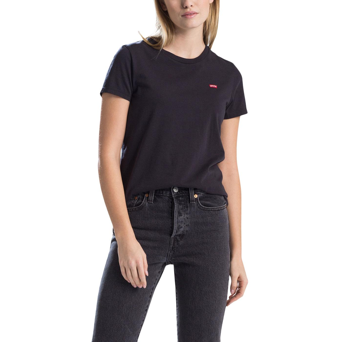 LEVI'S Perfect Batwing Patch Logo Tee In Black