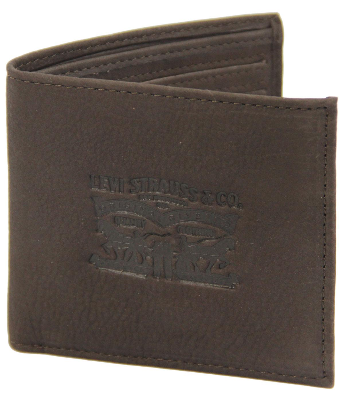 Levi's® Retro Horse Logo Tumbled Leather Wallet TB