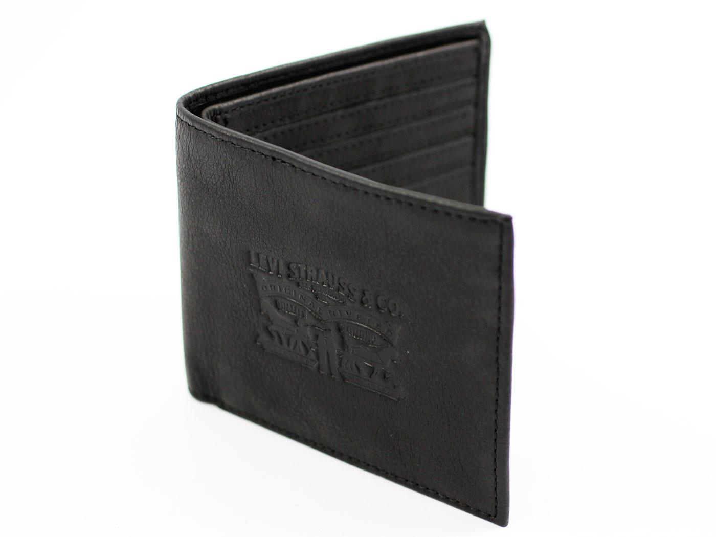 Levi's® Retro Horse Logo Tumbled Leather Wallet B