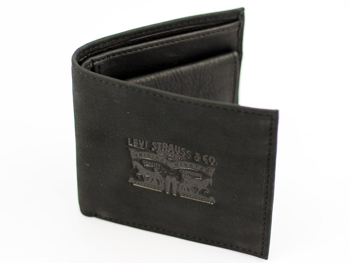 Levi's® Retro Horse Logo Leather Gatefold Wallet
