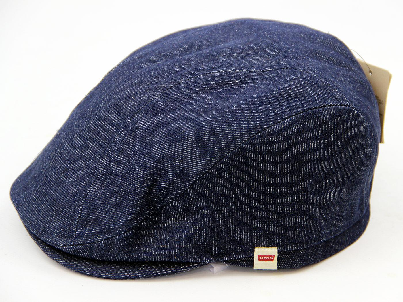 LEVI S® Retro Indie Mod Dark Blue Denim Flat Cap 31de02a6372