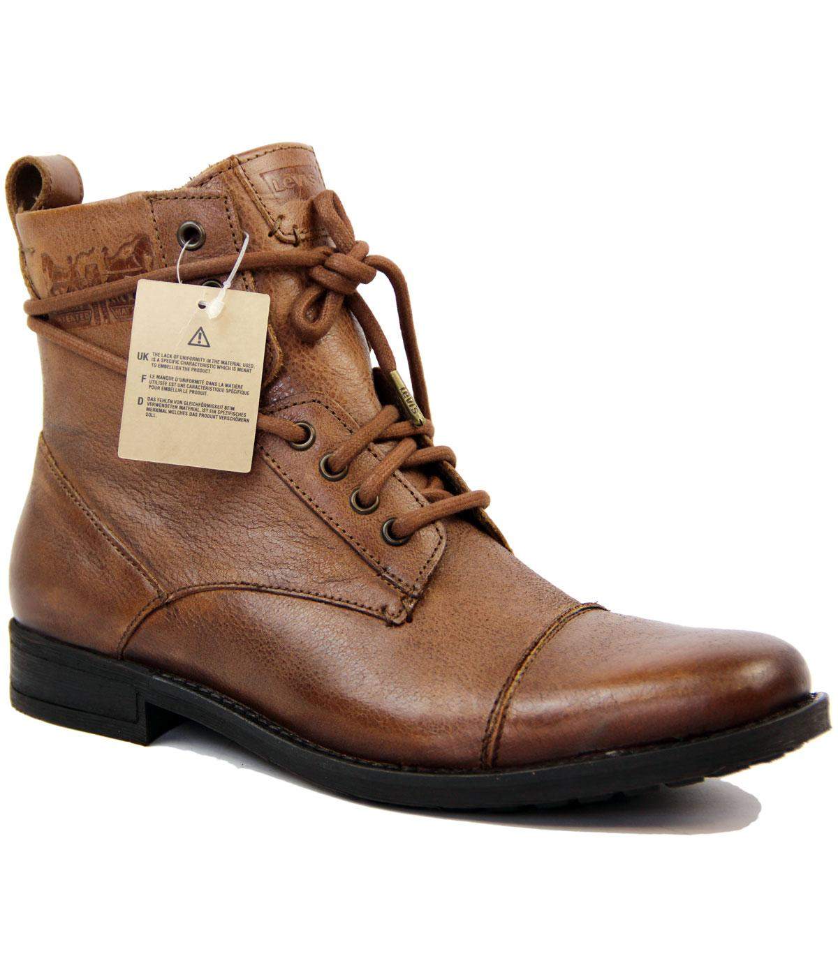 85bf4d132e7a7 Levi's® Maine Retro Indie Mod Military Leather Boots Light Brown