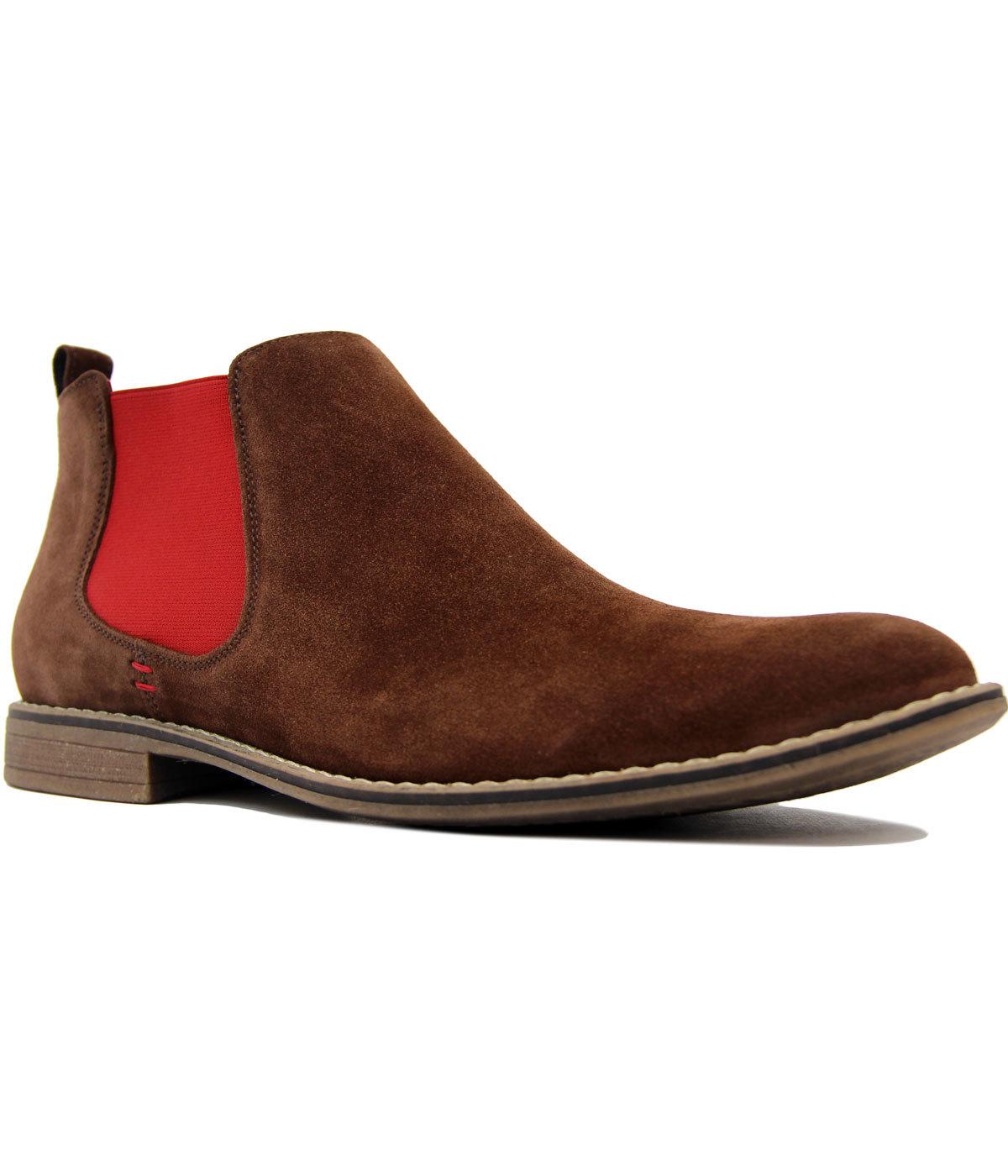 Bonzo LACUZZO Retro 1960s Mod Suede Chelsea Boots