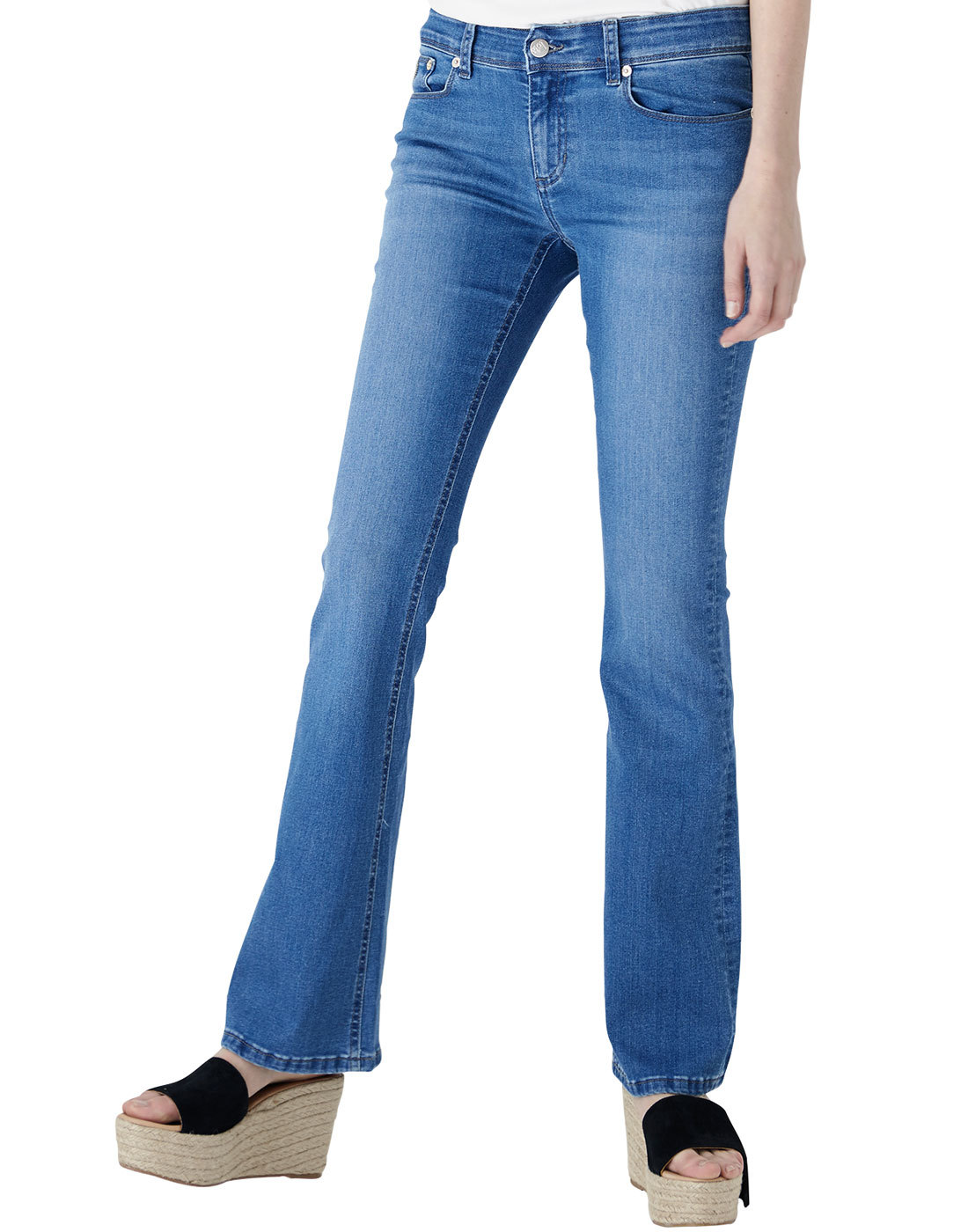Melrose LOIS Retro 1970s Pacific Blue Denim Flares