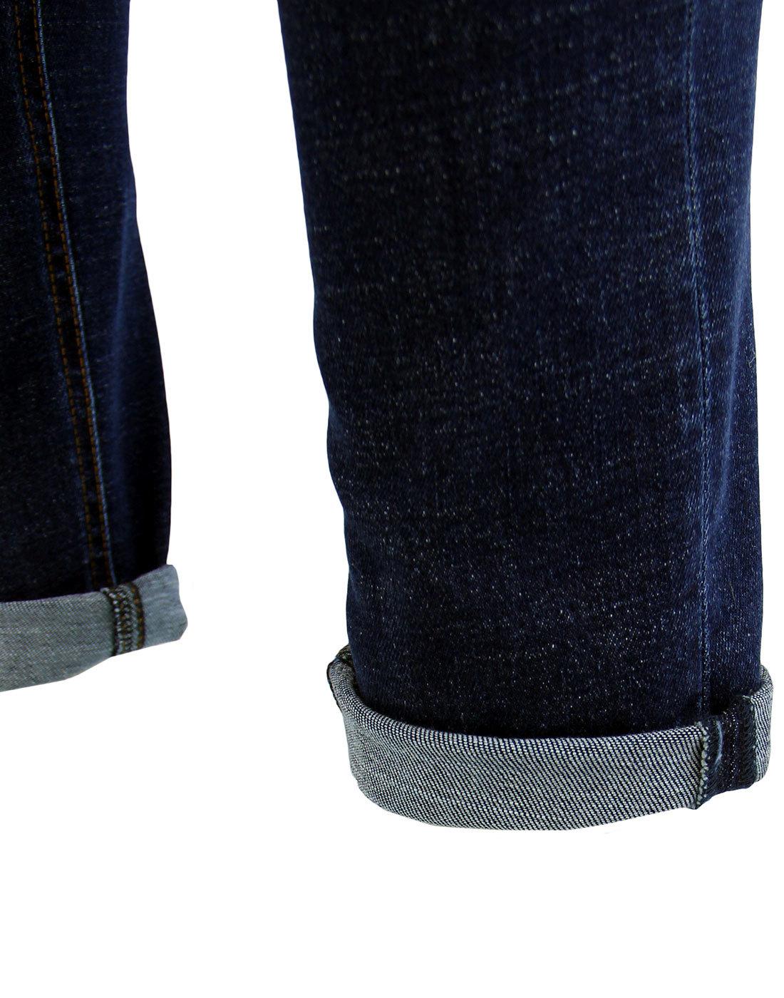 09a94323 LOIS Sky Men's Retro 1980s Mod Slim Fit Denim Jeans in Dark Stone