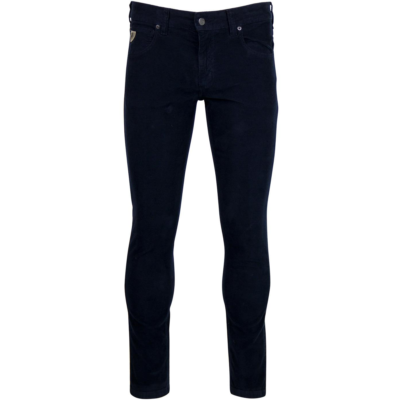Sky LOIS Retro Mod Skinny Thin Cord Jeans - Navy