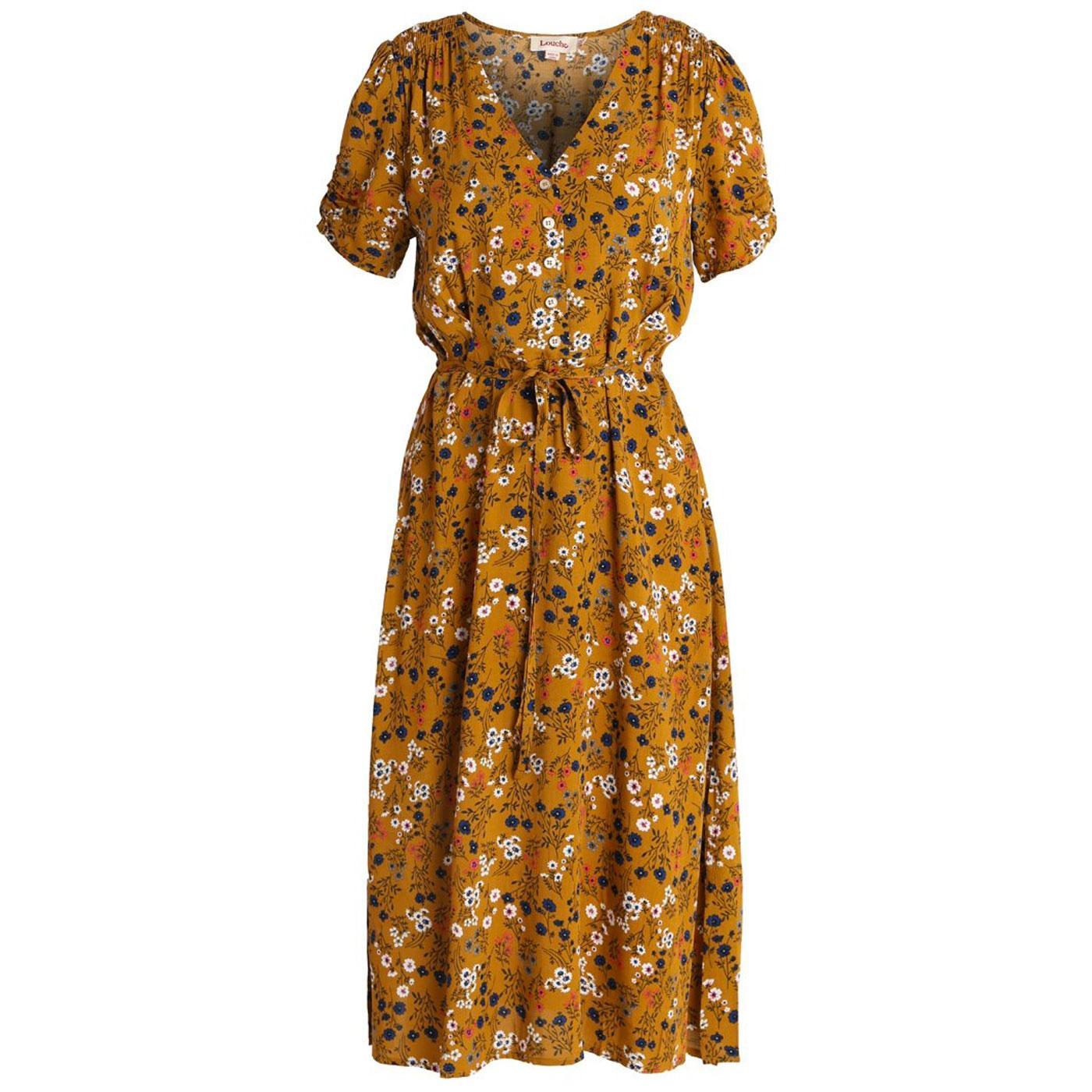 Chantel LOUCHE Retro 70s Ditsy Long Tea Dress