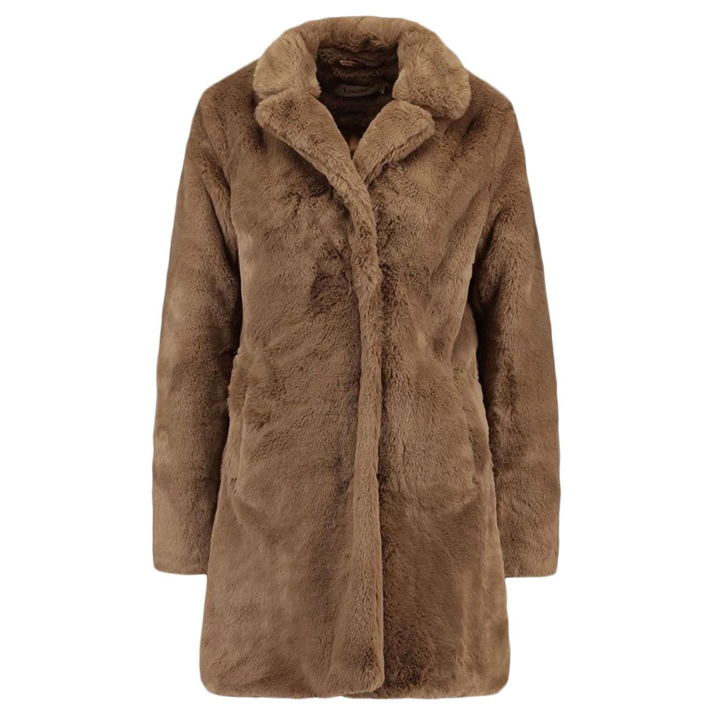 Wainwright LOUCHE Vintage Faux Fur Coat Brown