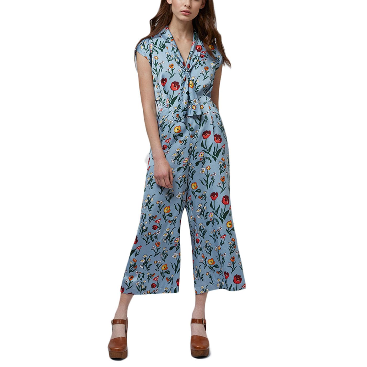 Myrtille LOUCHE Retro Botanical Tie Neck Jumpsuit