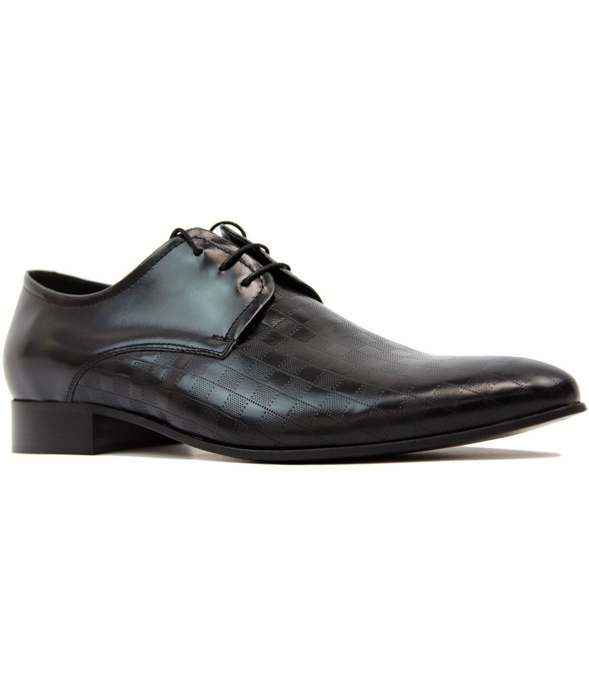 Rudy LACUZZO Mod Checkerboard Stamp Dress Shoes