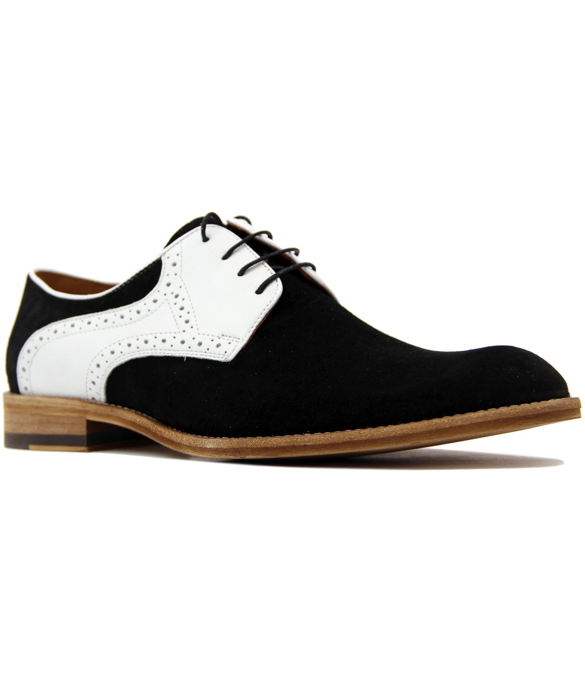 Start LACUZZO Mod Suede and Leather 2-Tone Brogues