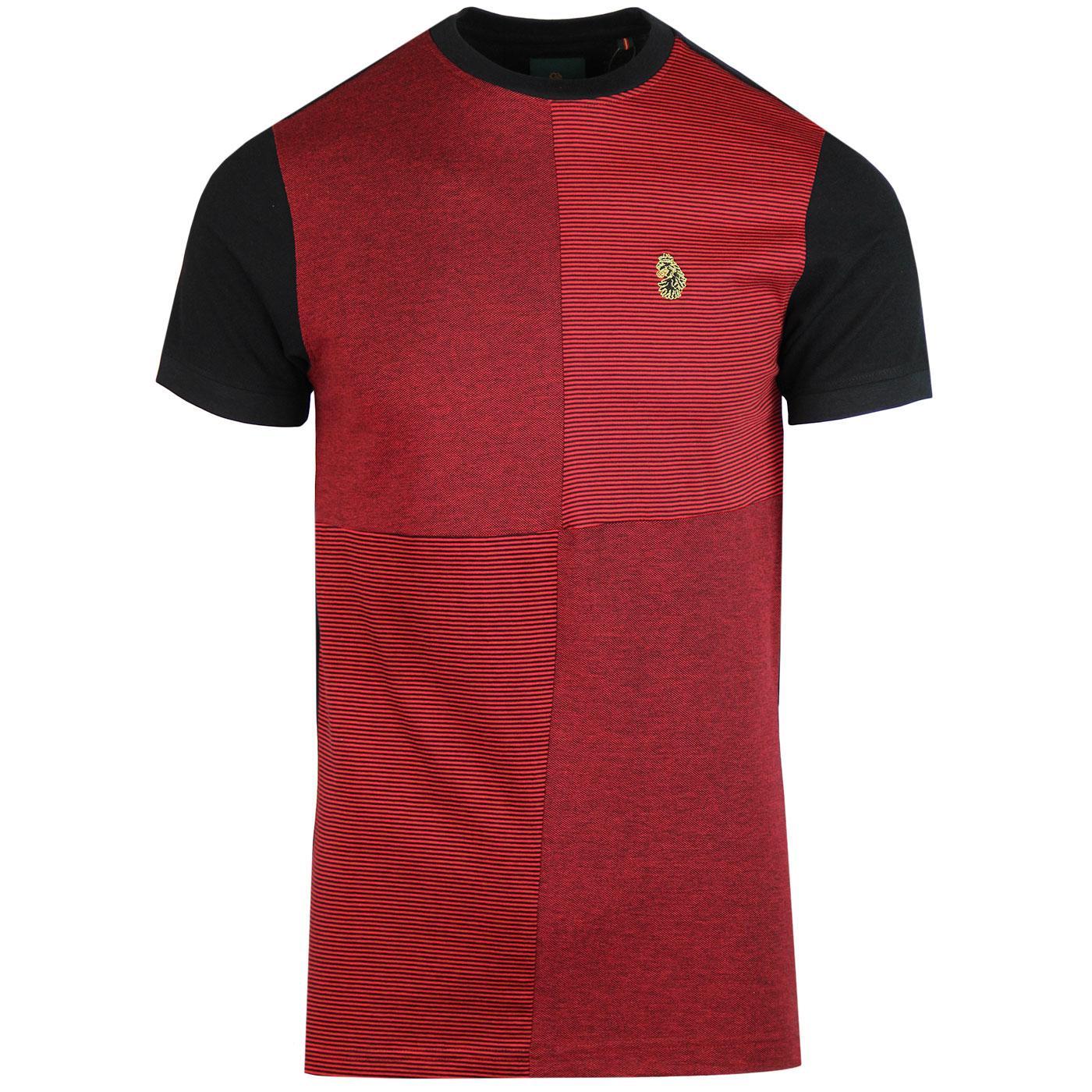 Boozy Baz LUKE 1977 Retro Colour Block T-Shirt