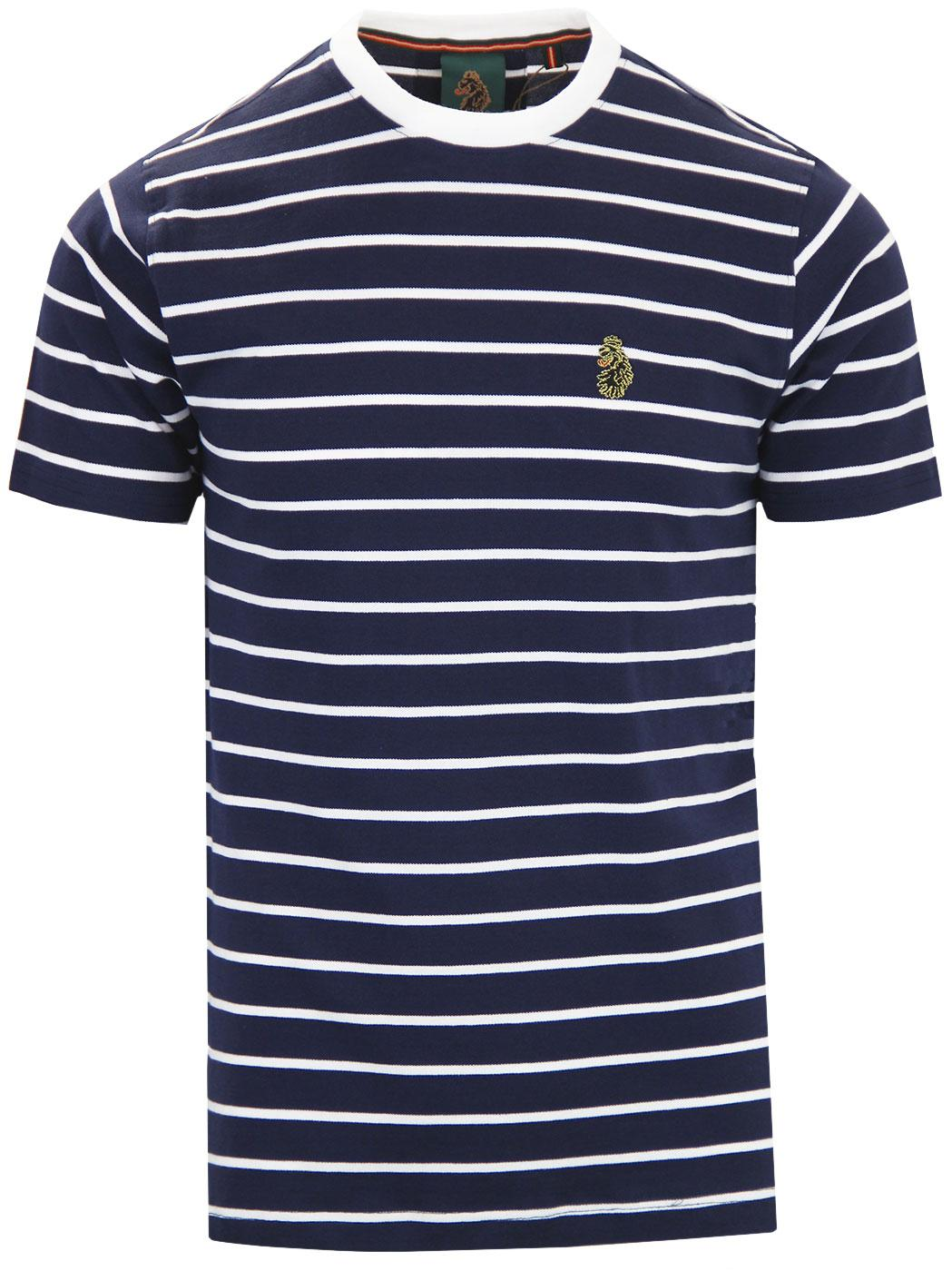 Finn LUKE 1977 Retro Indie Pique Stripe T-shirt