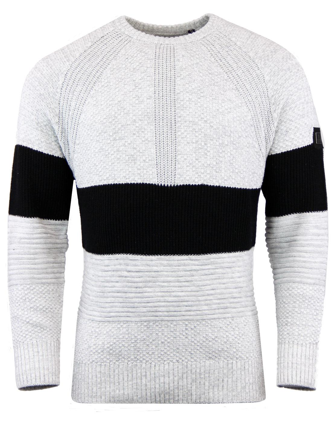 LUKE 1977 New Margin Mod Ribbed Knit Stripe Jumper