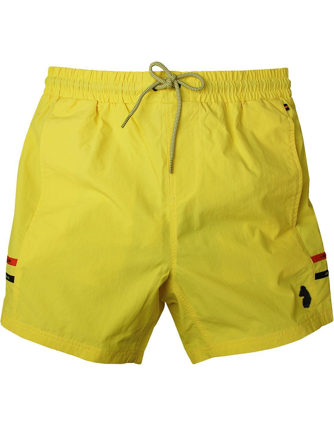 Ragy LUKE 1977 SPORT Men's Retro Swim Shorts Lemon