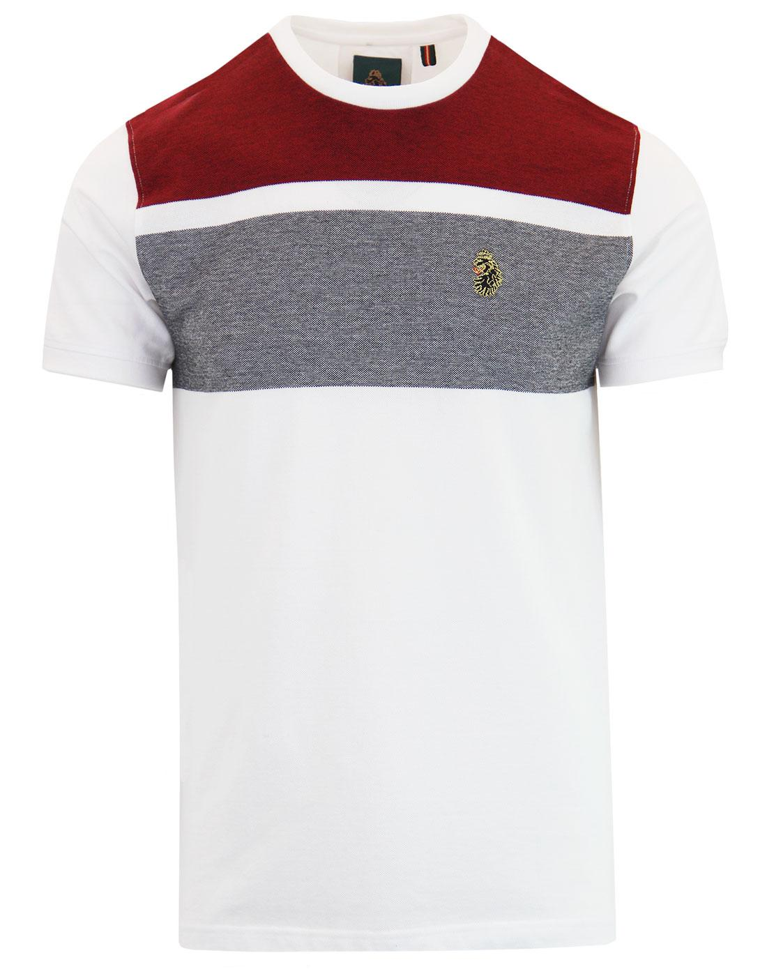 Warnock LUKE Men's Retro Chest Panel Oxford Tee