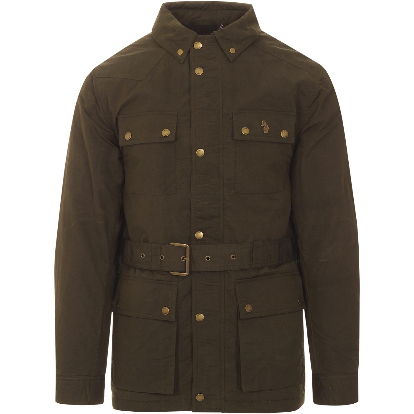 1000 Acres LUKE Retro Belted Tech Field Jacket (O)