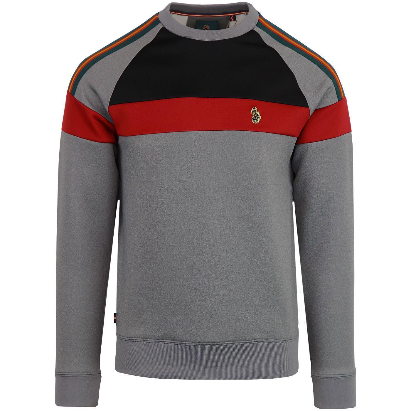 LUKE 1977 Adam Retro Indie Taped Sleeve Sweatshirt