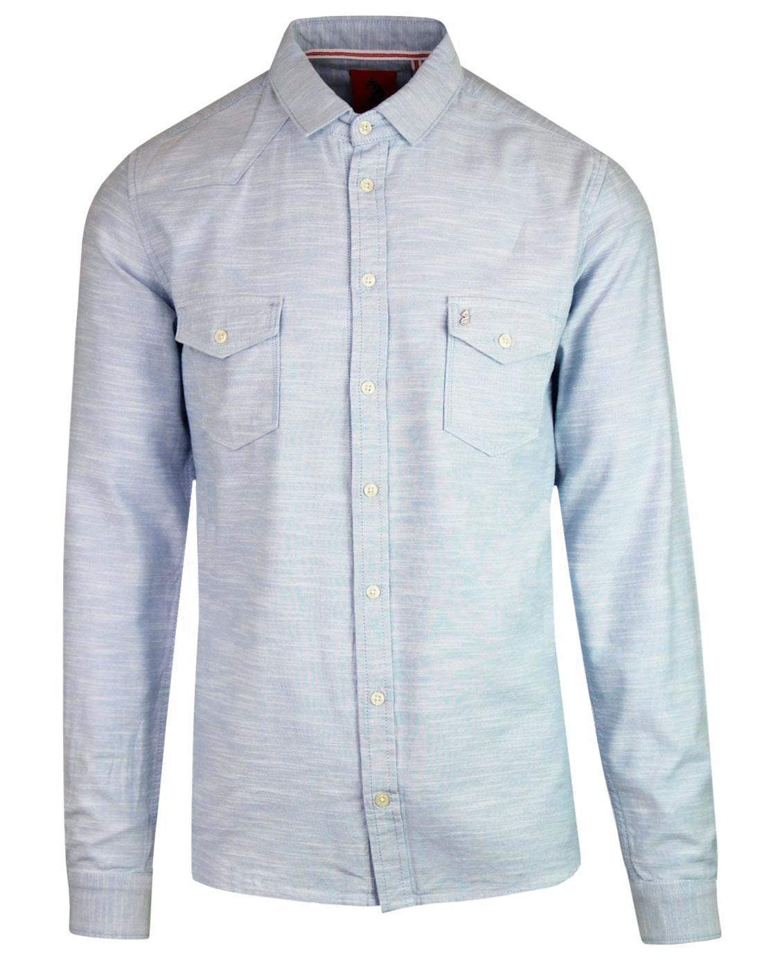 Bardon LUKE Retro Mod Space Dye 2 Pocket Shirt SKY