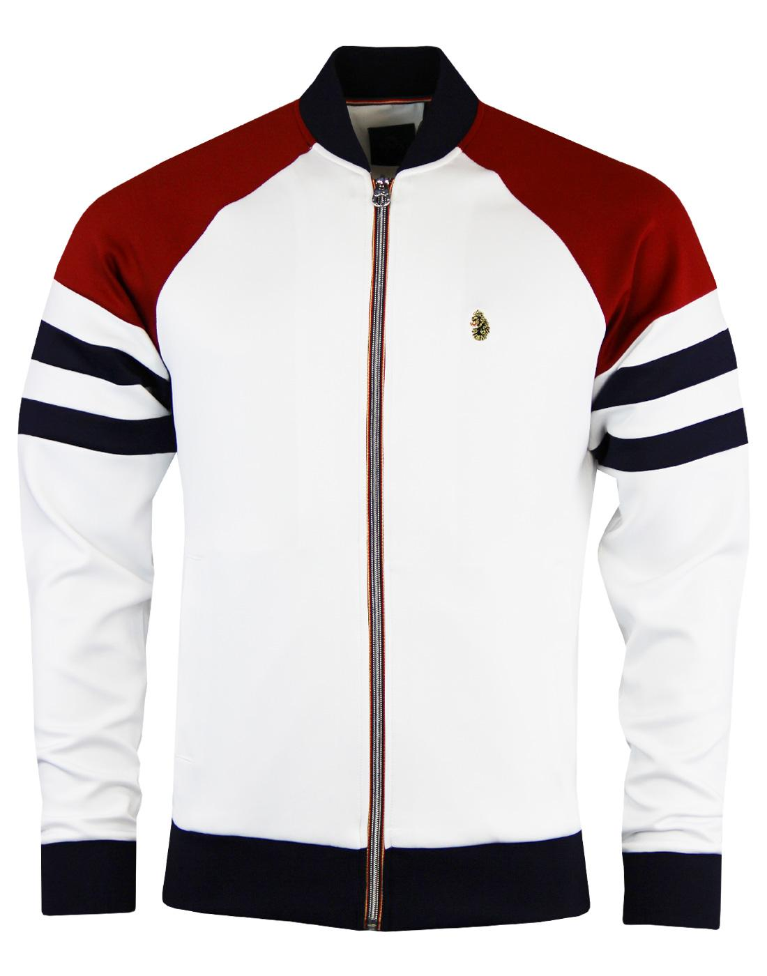 Mo LUKE 1977 Colour Block Bomber Collar Track Top