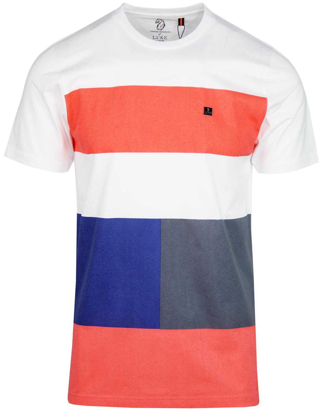 Closer To The Wind LUKE Retro Colour Block T-shirt