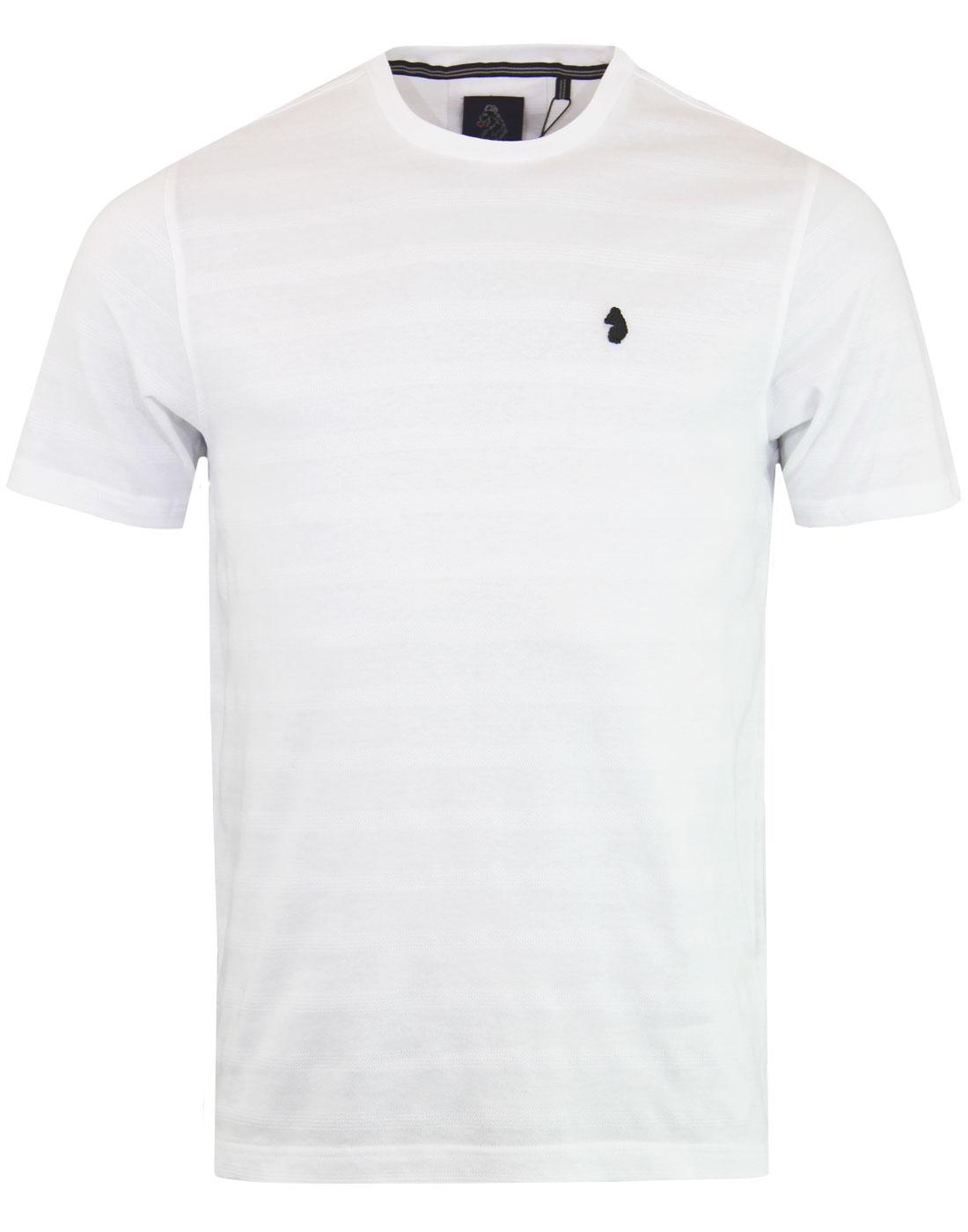 Cultraised LUKE Retro Micro Rib Crew T-shirt WHITE